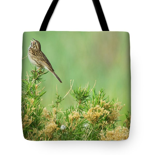 Tote Bag featuring the photograph Hitting The High Note by John De Bord