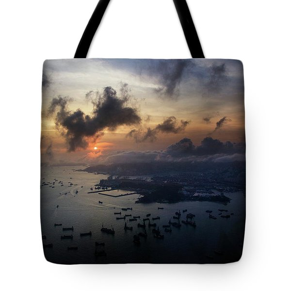 Tote Bag featuring the photograph HK by Lucian Capellaro