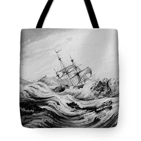Hms Dorothea Commanded By David Buchan Driven Into Arctic Ice Tote Bag