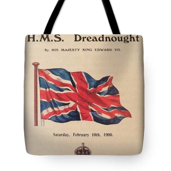 Hms  Dreadnought Tote Bag by Tim Townsend