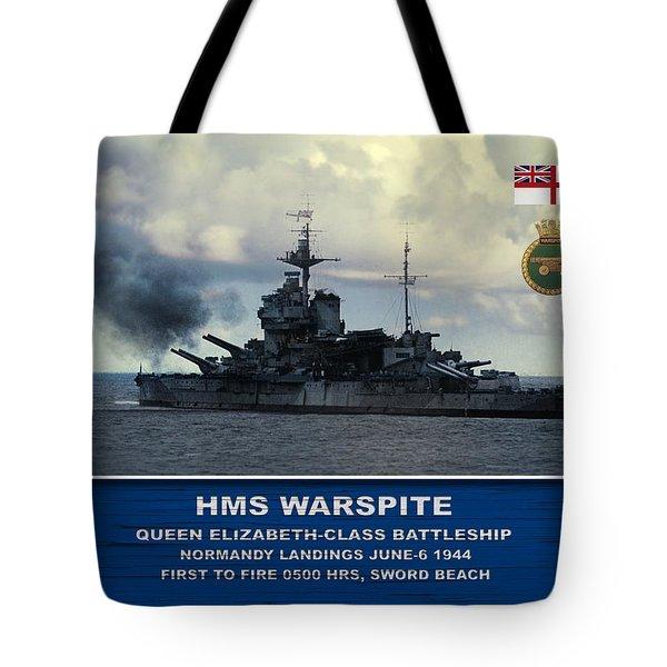 Hms Warspite Tote Bag