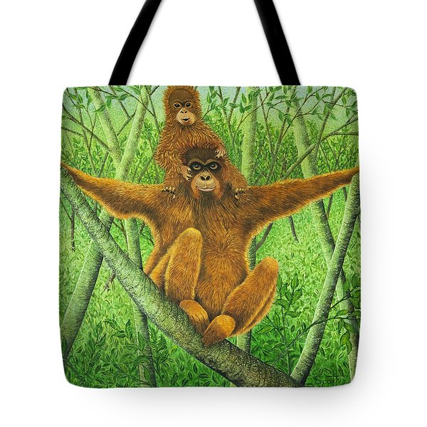 Hnag On In There Tote Bag by Pat Scott