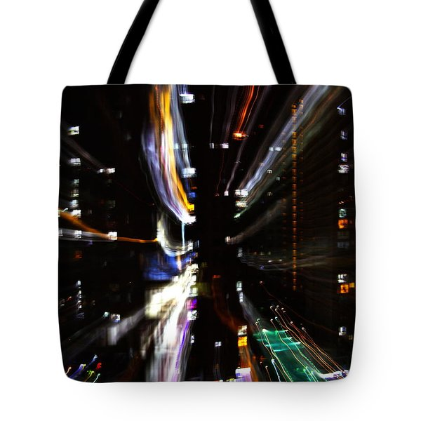 Tote Bag featuring the photograph Ho Chi Mihn City Lights by Gregg Cestaro