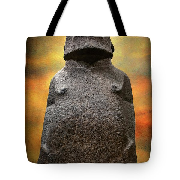 Tote Bag featuring the photograph Hoa Hakananaia by Adrian Evans