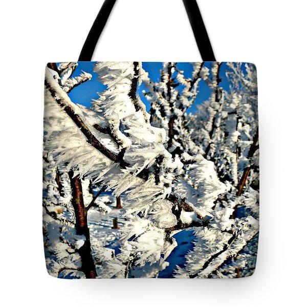 Hoar Frost Tote Bag