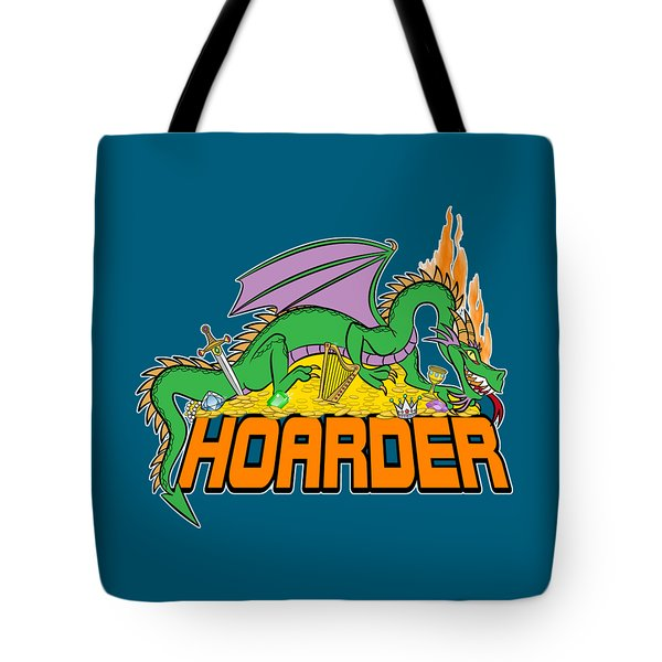 Tote Bag featuring the digital art Hoarder by J L Meadows