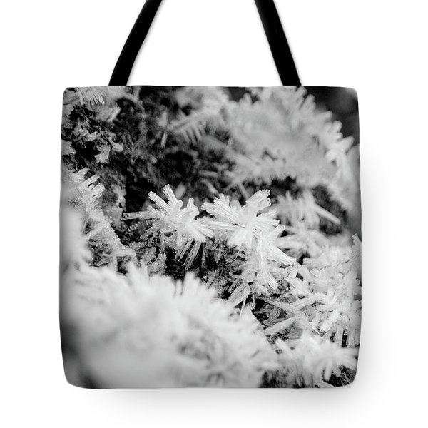 Tote Bag featuring the photograph Hoarfrost by Erin Kohlenberg