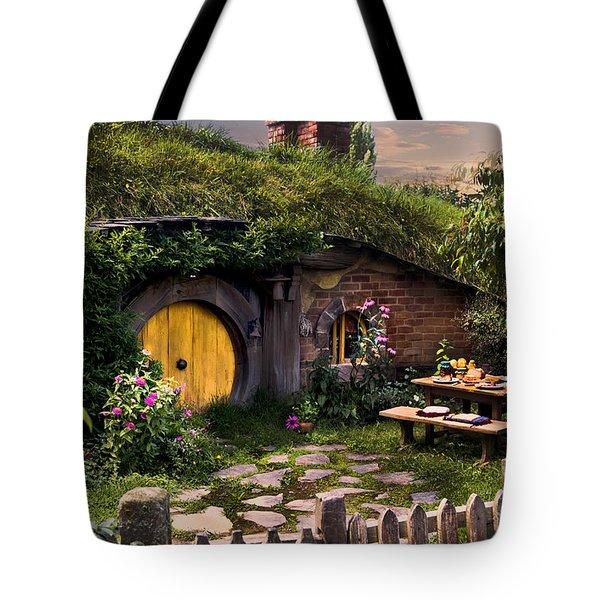 Hobbit Hole At Sunset Tote Bag