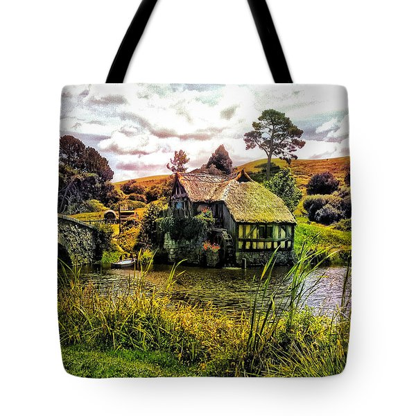 Hobbiton Mill And Bridge Tote Bag