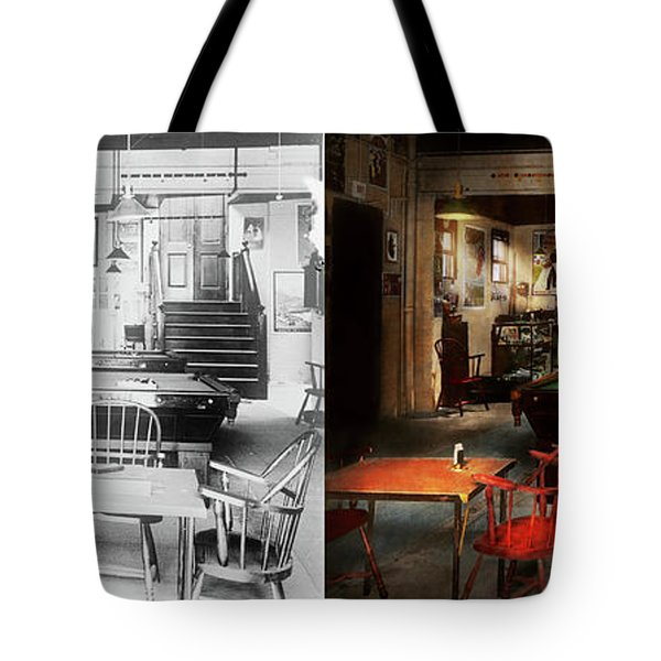Hobby - Pool - The Billiards Club 1915 - Side By Side Tote Bag by Mike Savad
