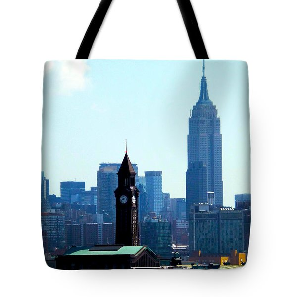 Hoboken And New York Tote Bag by James Aiken