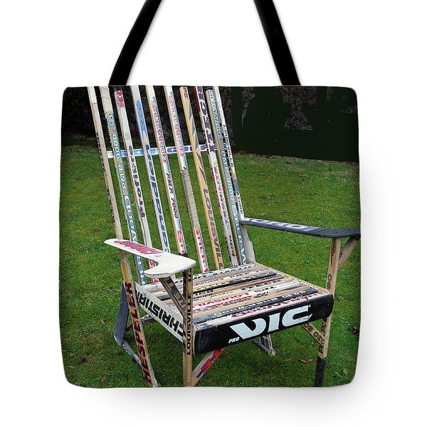 Hockey Stick Chair Tote Bag by Bill Thomson