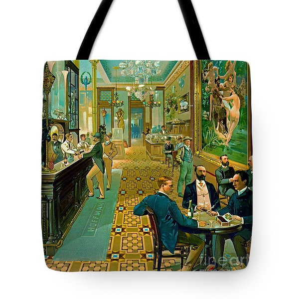Hoffman House Bar 1890 Tote Bag by Padre Art