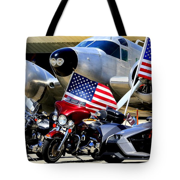 Tote Bag featuring the photograph Hog Heaven At The Hollister Air Show by John King