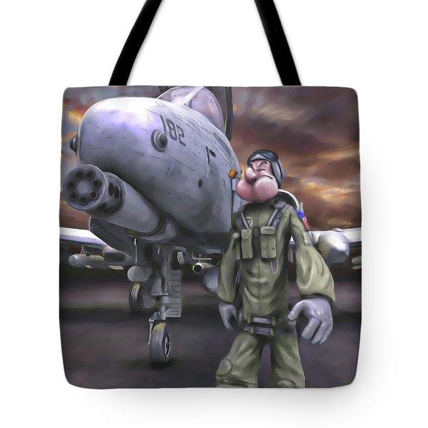 Hogman Tote Bag by Dave Luebbert
