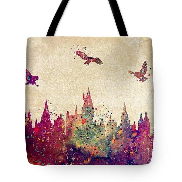Hogwarts Castle Watercolor Art Print Tote Bag