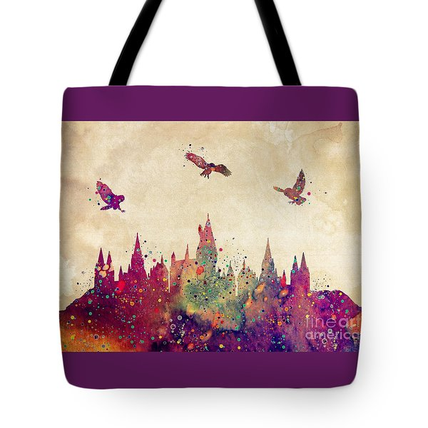 Hogwarts Castle Watercolor Art Print Tote Bag