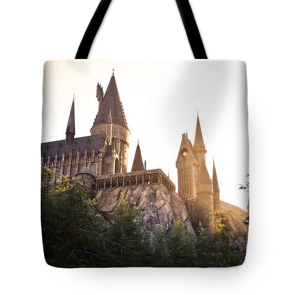 Tote Bag featuring the photograph Hogwarts Dusk by Rebecca Parker