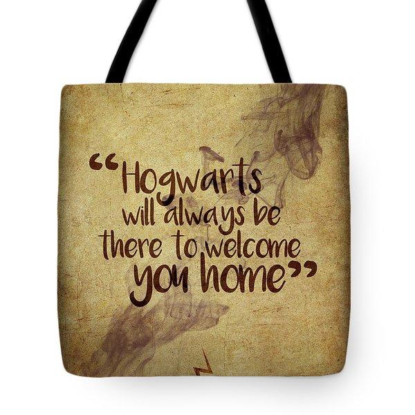 Hogwarts Is Home Tote Bag