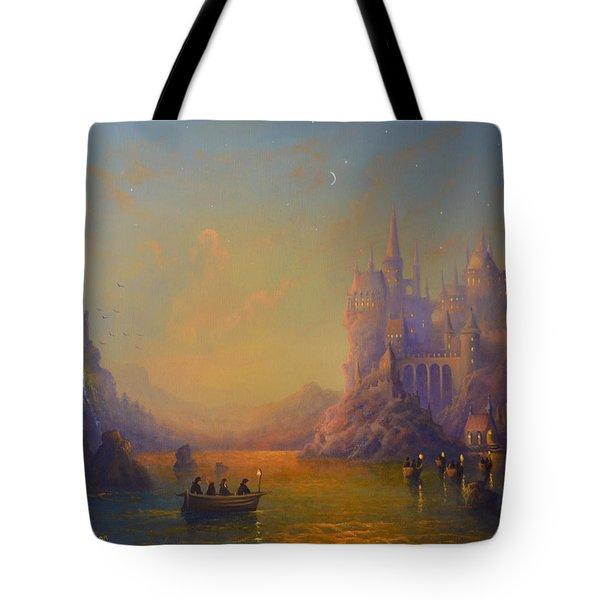Hogwarts Castle Tote Bag by Joe Gilronan
