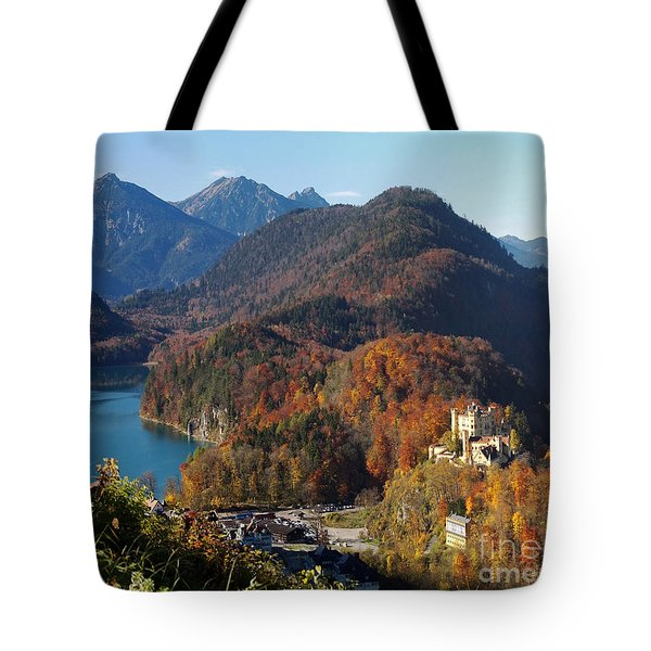 Hohenschwangau Castle And Alpsee In Bavaria Tote Bag