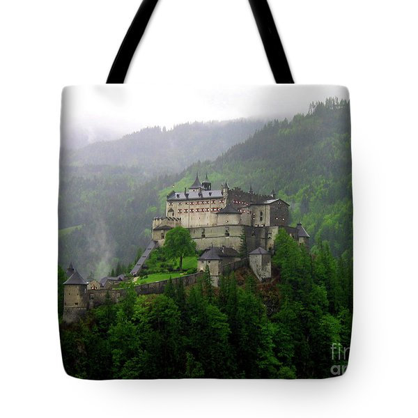 Hohenwerfen Castle Tote Bag by Sheila Ping