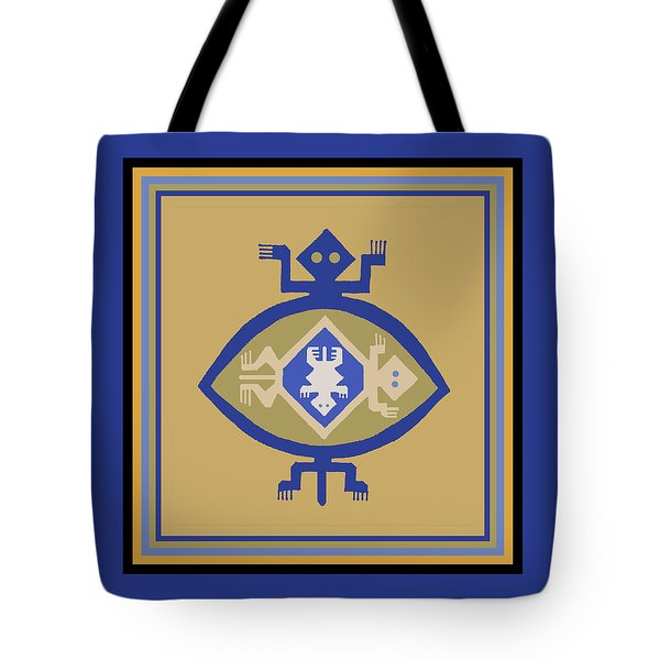 Hohokam Mimbres Turtle Family Tote Bag