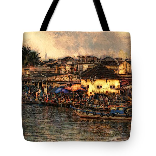 Tote Bag featuring the digital art Hoi Ahnscape by Cameron Wood