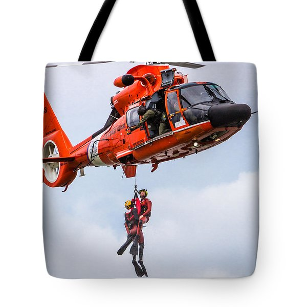 Hoisting By Helicopter Tote Bag