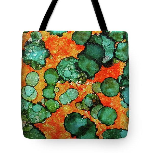 Tote Bag featuring the painting Hojo Flow Ink #10 by Sarajane Helm