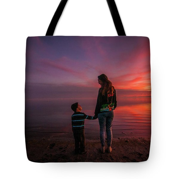 Hold My Hand Little Brother Tote Bag