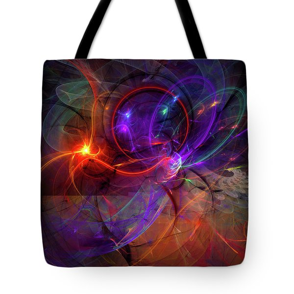 Hold On Love - Abstract Colorful Art Tote Bag by Modern Art Prints