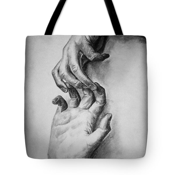 Hold On Tote Bag by Rachel Hames