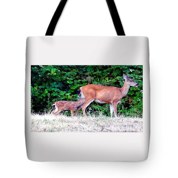 Hold Still Mom Tote Bag by Nick Kloepping