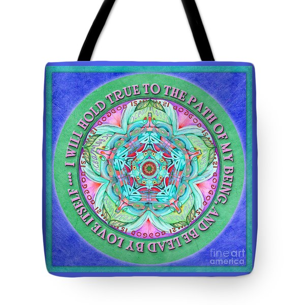 Hold True Mandala Prayer Tote Bag