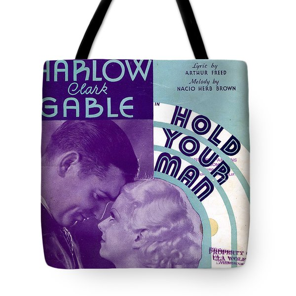 Hold Your Man Tote Bag by Mel Thompson