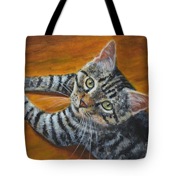 Holding Down The Floor Tote Bag by Jana Baker