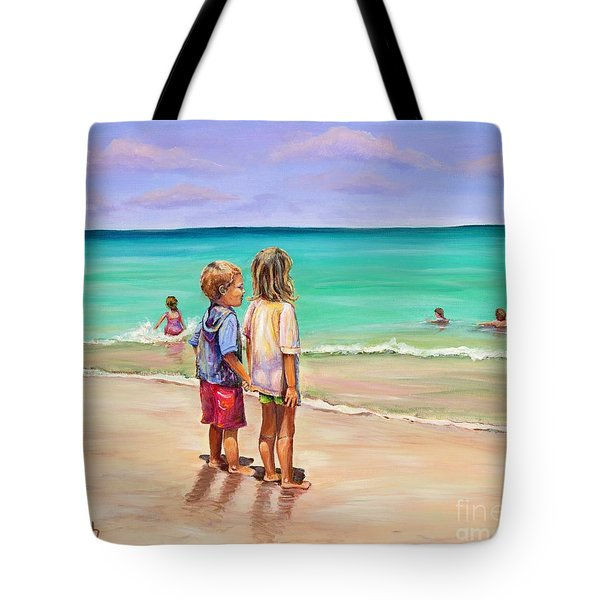 Tote Bag featuring the painting Holding Hands by Patricia Piffath
