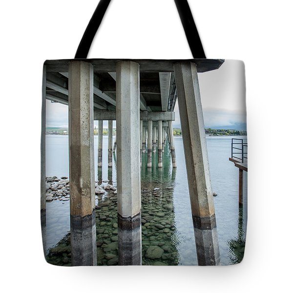 Tote Bag featuring the photograph Holding It Up by Fran Riley