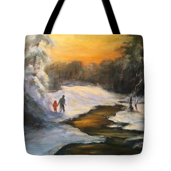 Holding My Father's Hand Tote Bag