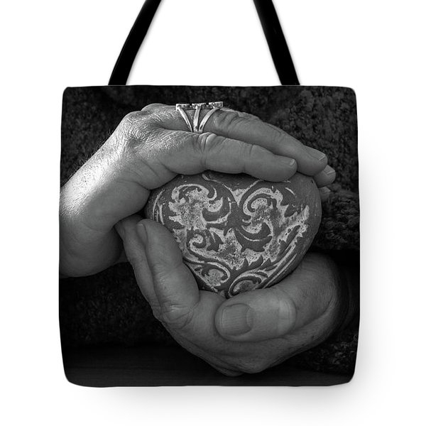 Holding My Heart In My Hands Tote Bag