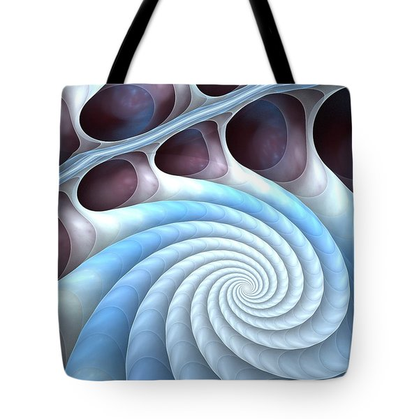 Tote Bag featuring the digital art Holding Tight by Anastasiya Malakhova