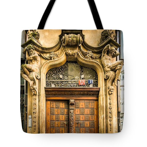 Holding Up The Doorway Tote Bag