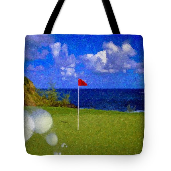 Tote Bag featuring the photograph Fantastic 18th Green by David Zanzinger