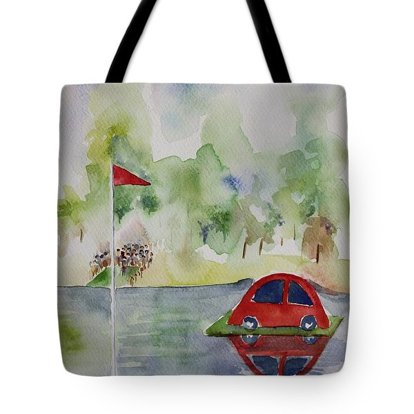 Tote Bag featuring the painting Hole In One Prize by Geeta Biswas