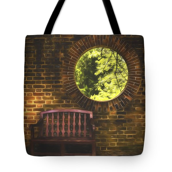 Tote Bag featuring the photograph Hole In The Wall  ... by Chuck Caramella