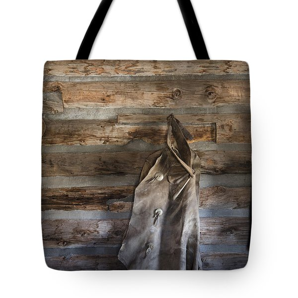 Hole-in-the-wall Cabin At Old Trail Town In Cody In Wyoming Tote Bag