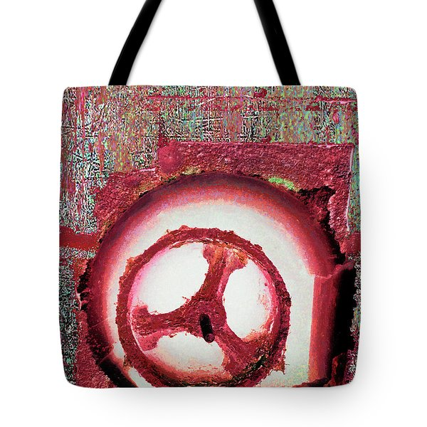 Tote Bag featuring the mixed media Hole Opposite by Tony Rubino