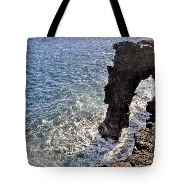 Tote Bag featuring the photograph Holei Sea Arch by Gina Savage