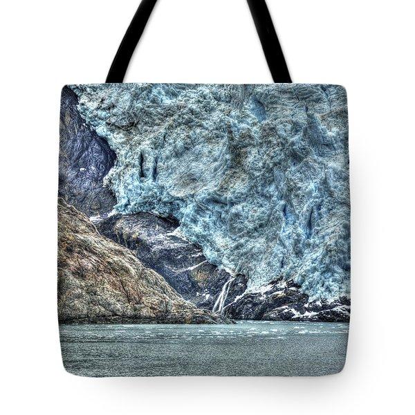 Holgate Glacier Hdr Tote Bag